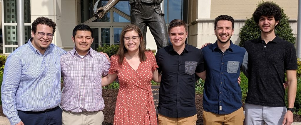 JMU SHPE Student Chapter founding members (May 2019).